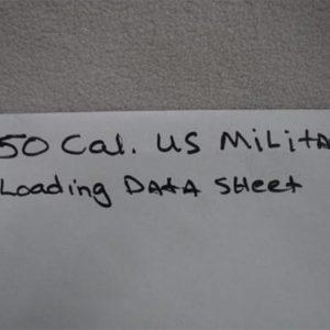 50 cal loading data