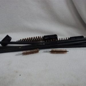 50 cal T-handle chamber brush set. Includes T-handle rod with adapter for brass chamber brush and 2 brushes.
