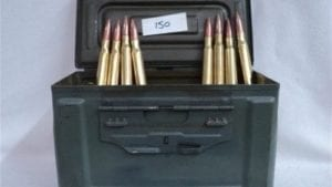 50 Cal. Ball ammo, Clean TCCI reloads, 150 rounds in a ammo can.