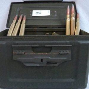 50 Cal API ammo, clean TCCI reloads. 150 rounds in a ammo can.