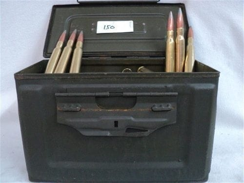 50 Cal API ammo, clean TCCI reloads. 150 rounds in a ammo can.