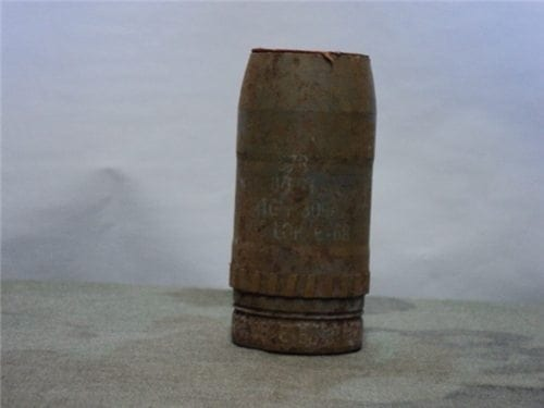 57mm recoiless inert projectile without nose fuse as-is