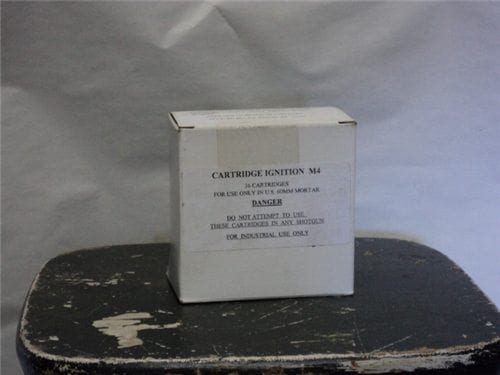 60mm mortar M-4 ignition launch cartridge Box of 36