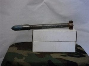 66mm law sub caliber (35mm) fired rocket with safety clip