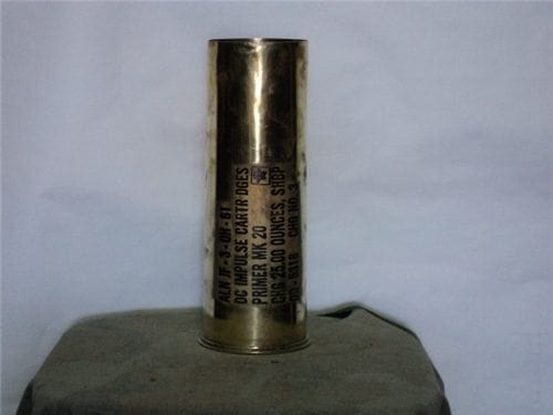 75mm Howitzer/Navy MK-20 Brass inpulse cartridge case.( bi plane, pack howitzer or depth charge launch)