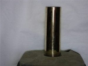 75mm unprimed, unfired brass case, Polished