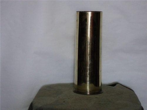 75mm unprimed, unfired brass case, Polished