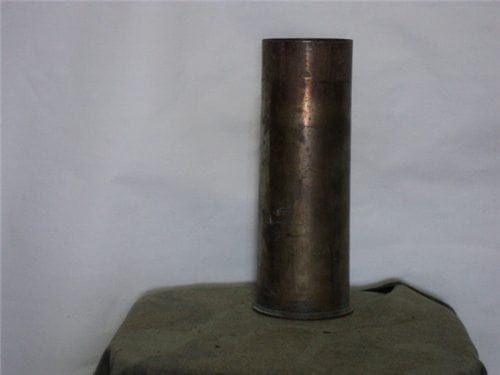75mm unprimed, unfired brass case,