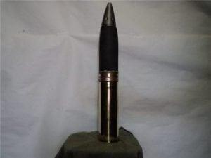 75mm Howitzer inert brass case dummy round with inert nose fuze