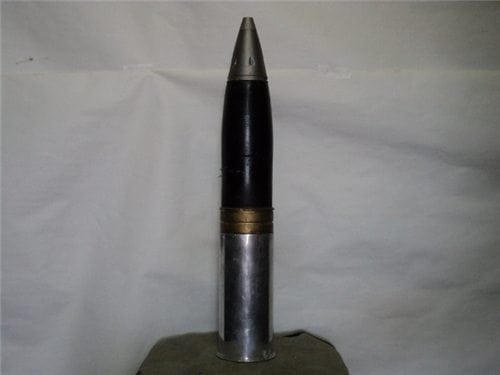 75mm Howitzer inert Aluminum case dummy round with inert nose fuse
