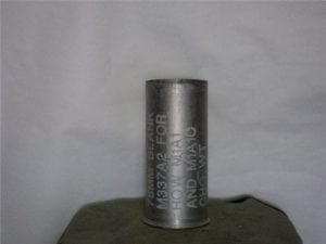 75mm Howitzer inert fired aluminum blank case, most are M-337 A-Z cases