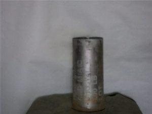 75mm Howitzer inert fired aluminum blank case
