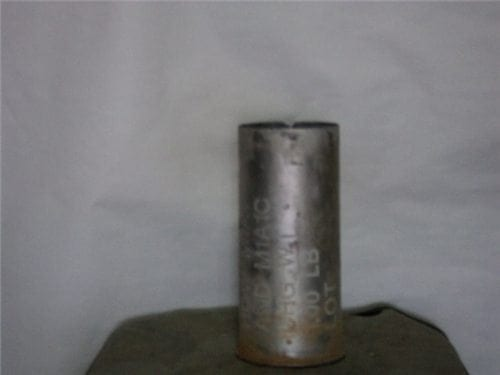 75mm Howitzer inert fired aluminum blank case