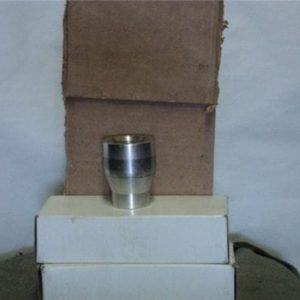 81mm mortar tail fin adapter (to adapt old style finns to new style round) aluminum