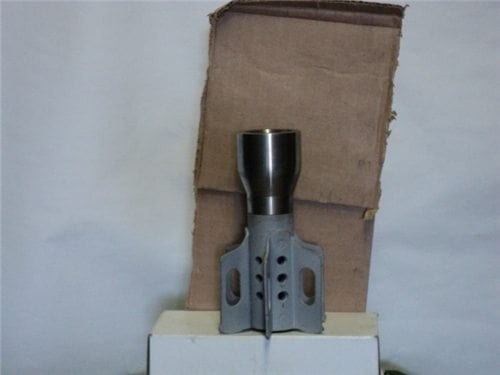 81mm mortar steel tail fin with adapter