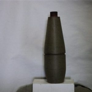 81mm mortar long gray bodies without finns or fuse stamped 81mm M374 practice