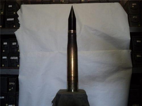90mm inert AP brass case dummy round with windscreeen