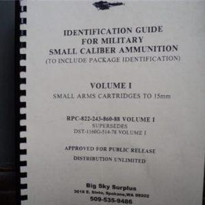Small Caliber ammunition guide Volume 1. Thru 15mm