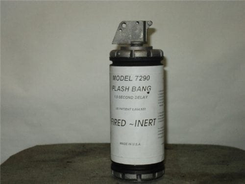 Flash bang, Inert fired with fired fuse, without striker and spoon