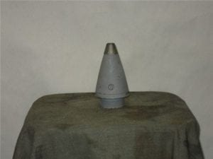 M-577 Point detonating with delay screw inert nose fuse with 1-1/2″ base and nose cone
