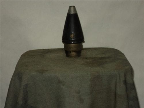 M-577 Point detonating with delay screw inert nose fuse with 2″ brass adapter ring + nose cone