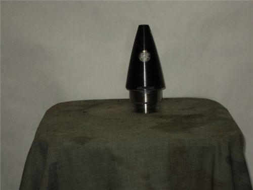 M-577 black inert nose fuse with see through bubble type setting device and 2 inch base