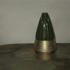 Proximity inert fuse, green plastic cover. 2 inch base with uncharged battery.