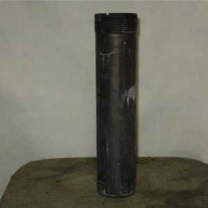 Inert Booster charge holder for projectile and bombs. 2 inch threaded top and 8-1/2 inch long