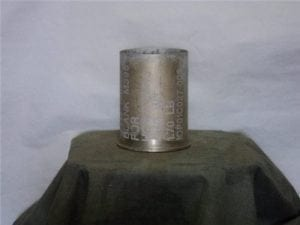 105mm Howitzer M-395 fired aluminum blank case