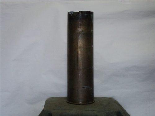 105mm Howitzer M-103/M137 fired brass blank case. (AS-IS)