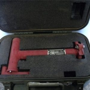 105mm Howitzer sight alignment tool with carry case