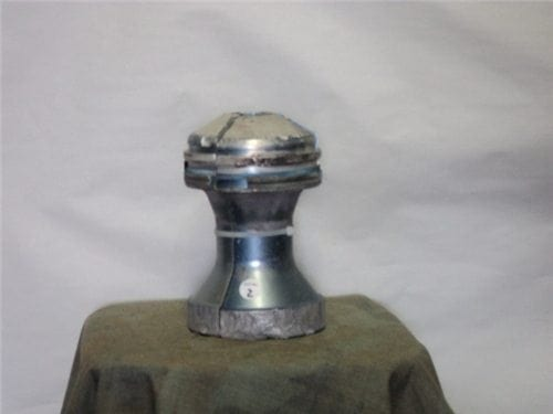 120MM Three piece aluminum sabot set Grade 2 as-is (scarred from shooting)