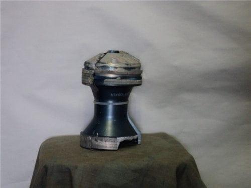 120MM Three piece aluminum sabot set as-is.