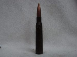 12.7 mm Russian live ball ammo with U.S. Bullet. Price per round.