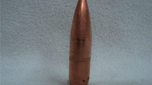 14.5mm AP projectile, B-32, Black tip with copper jacket. These projectiles are not up to test spec but are for warm ups only. They are surrogates made in the US. Price per projectile.
