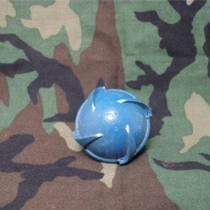 Inert blue practice cluster bomb