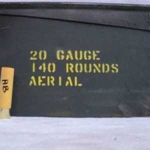 20 gauge air burst ammo, three second delay. 140 round can. Sold As Is.