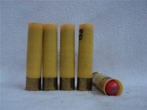 20 gauge point detonation ammo. Five round pack.
