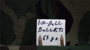 .221 Diameter bullets per 100 projectile bag