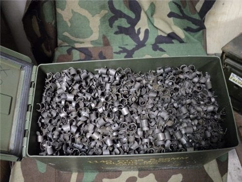 223 M-16/AR-15 links good condition. 1000 link bag
