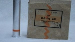 26.5MM orange smoke rounds. Box of 10