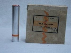 26.5MM orange smoke rounds. Box of 10