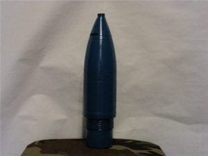 2.75 inch inert short, pointed, steel warhead