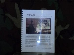 2.75 inch hydra-70 rocket system manual with colored pictures.