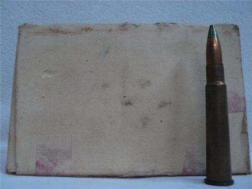 303 British Incendiary ammo in 48 round original box, Brass case factory ammo.