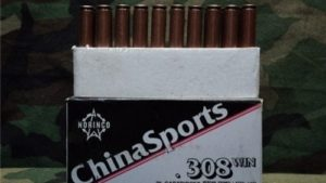 308 Ball ammo Chinese. 20 round box.