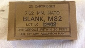308 U.S Bottle nose blanks M82. 20 round box