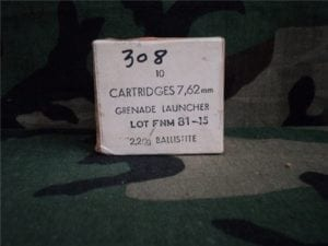 308 Foreign Grenade Launch Blanks in 10 round boxes.