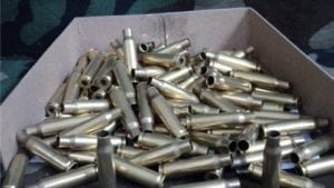 308 Brass cases, resized and trimmed. 100 case bag.