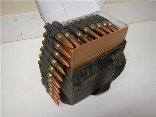 308 Tracer ammo linked in box and bandoleer.